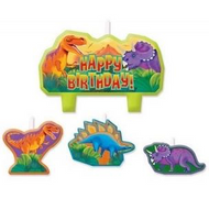 Birthday Candles - Prehistoric - 4pc