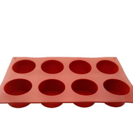 Cylinder Silicone Mould 8 Cavity