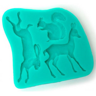 Woodland Animals 3pc Silicone Mold