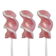 Twist Lollipop Pink Shimmer and White Small