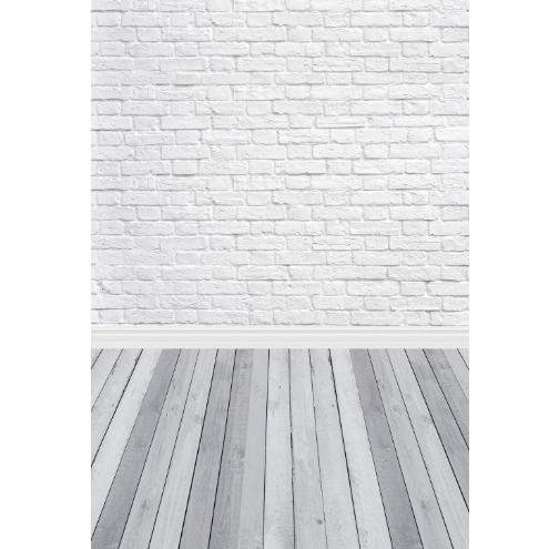 Backdrop 100x150cm Gray Bricks & Planks