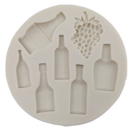 Wine Bottles & Grapes Silicone Mold