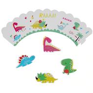 Happy Dinos Cupcake Wraps 12pc
