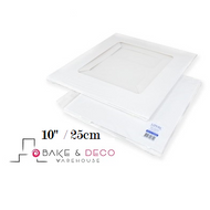 "White Cake Box 10"" x10"" x 6"" (20cm) - Loyal"