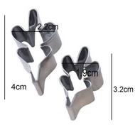 Oak/ Rocket/ Astra Leaf Stainless Steel Cutter Set 2pc