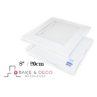 "White Cake Box 8"" x 8"" x 6""  (20cm) - Loyal"