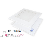 "White Cake Box 12"" x 12"" x 6""  (30 cm) - Loyal"
