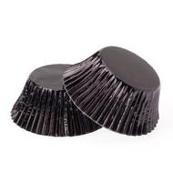 Foil Mini Cupcake Cases 40pk - BLACK
