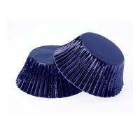 Foil Mini Cupcake Cases 40pk - NAVY