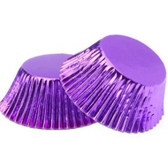 Foil Metallic Cupcake Cases 25pk - PURPLE