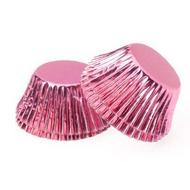 Foil Metallic Cupcake Cases 25pk - PINK