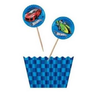 Hot Wheels Licensed Cupcake Kit - 12pc