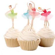 Cupcake Toppers 24pc - Colourful Ballerina