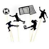 Cupcake Toppers 6pc - Soccer