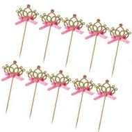 Cupcake Toppers 10pc - Gold Tiara