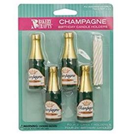 Birthday Candles - Champagne Candle Holders & Candles