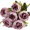 Silk Flowers Peony Ranunculus Spray - DUSTY PINK