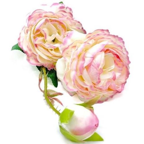 Silk Rose Spray - PINK MARBLE