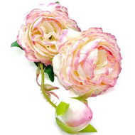 Silk Rose Spray - PINK MARBLE