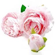 Silk Rose Spray - PINK