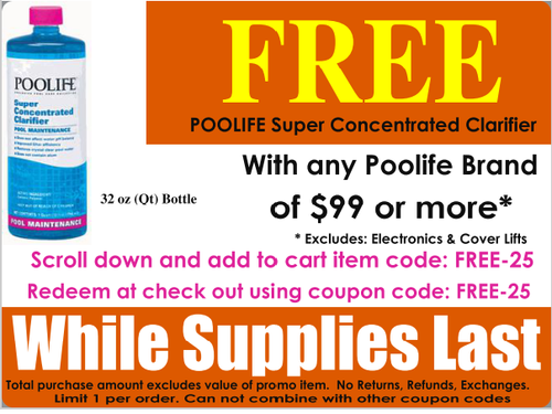 POOLIFE SUPER CONCENTRATED CLARIFIER - FREE PROMO OFFER WITH MINIMUM PURCHASE