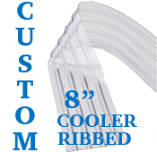"Custom Replacement Strip - 8"" Wide - Cooler, Ribbed"