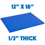 Blue Standard Cutting Board - 12 x 18