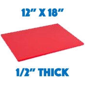 Red Standard Cutting Board - 12 x 18