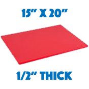Red Standard Cutting Board - 15 x 20
