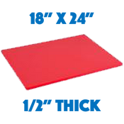 Red Standard Cutting Board - 18 x 24