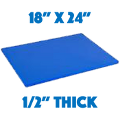 Blue Standard Cutting Board - 18 x 24