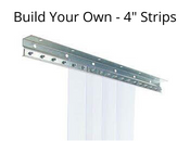 "4"" - Custom Strip Curtain Kit"