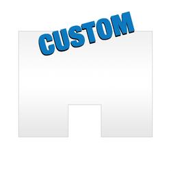 Custom Acrylic Safety Barrier with Access Hole (GGCASBWAH)