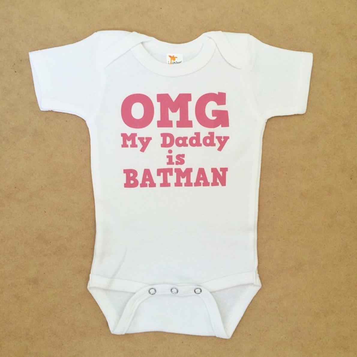 Baby onesie design request - OMG My Daddy is Batman