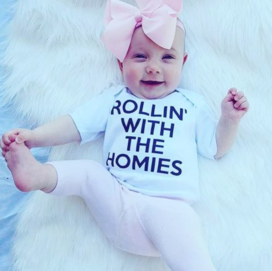 ROLLIN WITH THE HOMIES - design your own onesie for @petals_mum