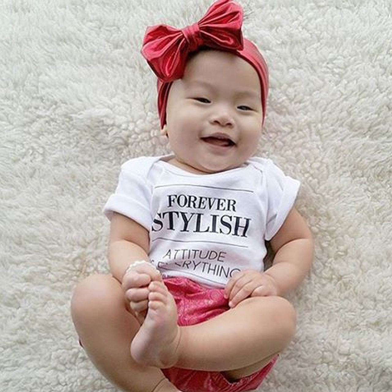 Forever STYLISH - Attitude is everything - Custom baby onesie for @annjenica