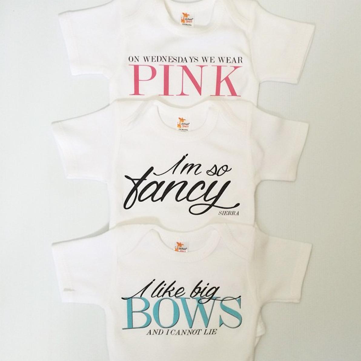 On Wednesdays We Wear Pink Baby Onesie Cutomised Baby