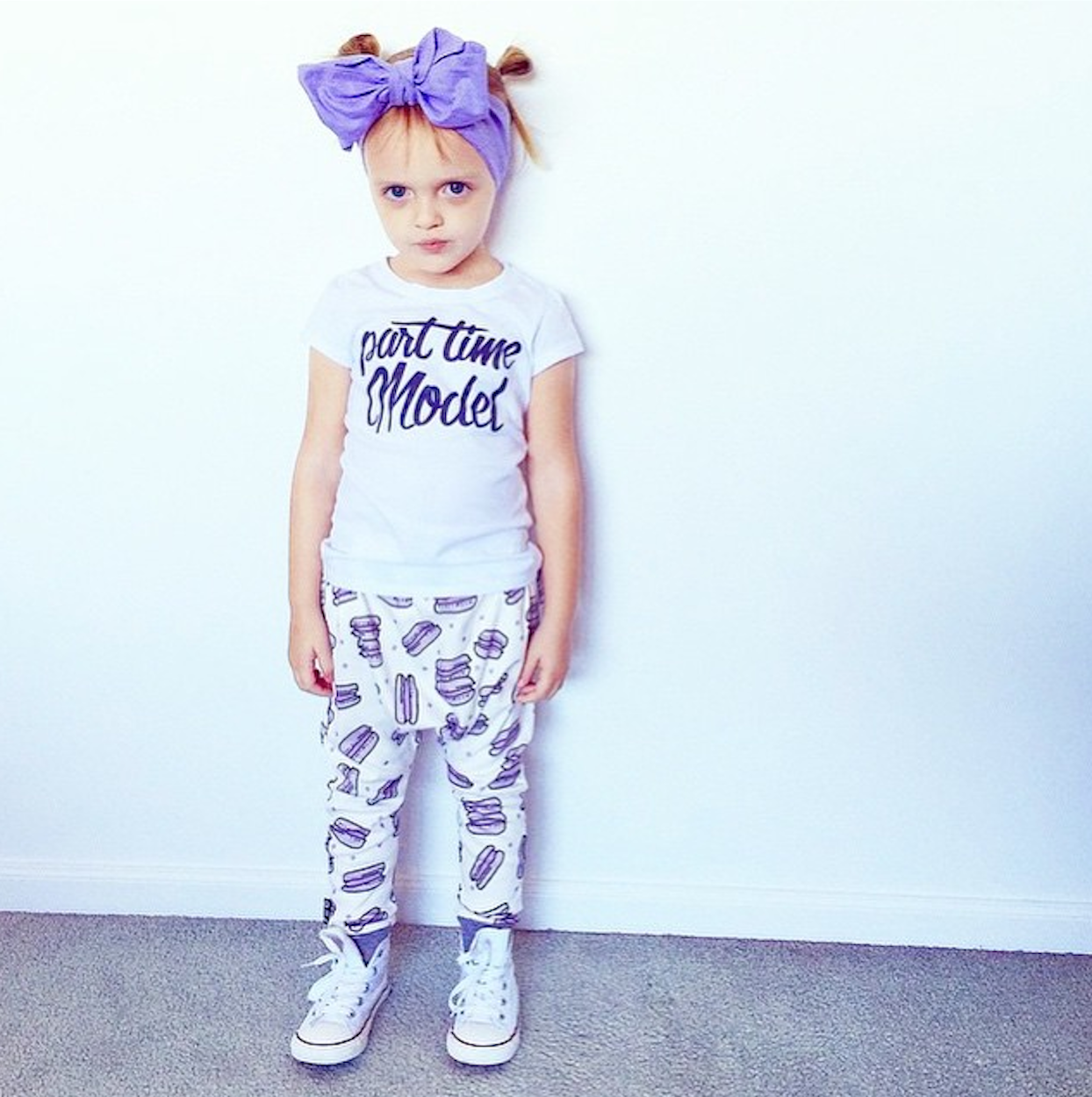 Part Time Model Toddler Tee Customisable Products Word
