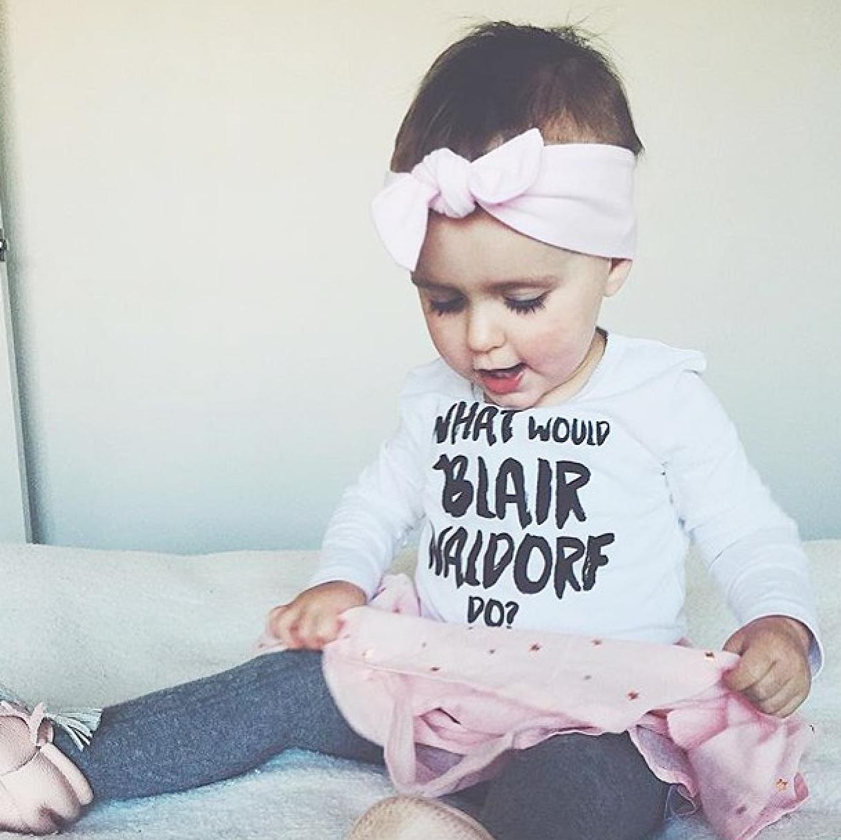 What Would Blair Waldorf Do Girl S Top Slogan Kids
