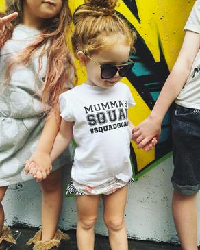 Mumma's Squad Squadgoals Girl Tee