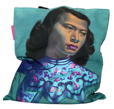 Tretchikoff 'Chinese Girl' Duck Egg Tote Bag