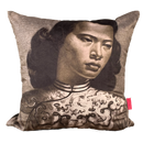 Tretchikoff 'Chinese Girl' Sepia Velvet Cushion Cover 50x50cm