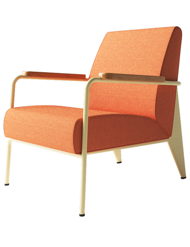 Vitra fauteuil de salon by jean prouve for Fauteuil design vitra