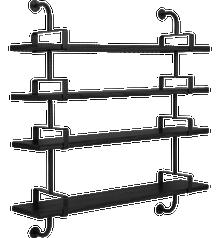 Gubi Demon Shelving - 4 Shelves 155cm