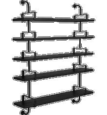 Gubi Demon Shelving - 5 Shelves 155cm