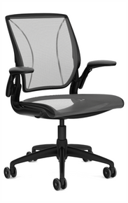 QUICK SHIP Humanscale Diffrient World Chair - Black Frame Black Mesh