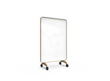 Lintex Frame Mobile Whiteboard - Oak frame