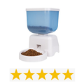 White Electronic Portion Automatic Pet Feeder - 5 Liters Capacity - for cats, small dogs, rabbits etc