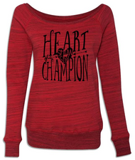 Heart Of A Champion Wideneck Sweatshirt