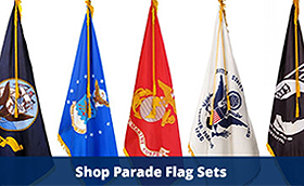 Veterans Flag Depot Parade Flag Sets